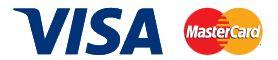 Visa or MasterCard credit cards